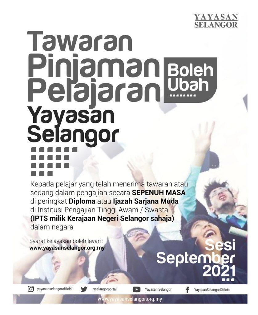 Permohonan Pinjaman Pelajaran Boleh Ubah Yayasan Selangor